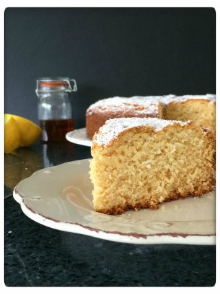 Lemon and Honey Coconut Cake